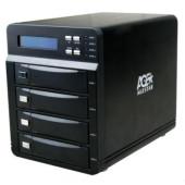 Внешний корпус для HDD AgeStar 3C4B3A SATA II алюминий черный LCD 3.5