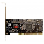 Контроллер PCI SIL3114 4xSATA Bulk