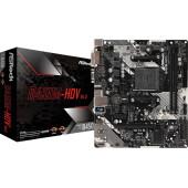 Материнская плата Asrock B450M-HDV R4.0 Soc-AM4 AMD B450 2xDDR4 mATX AC`97 8ch(7.1) GbLAN RAID+VGA+DVI+HDMI